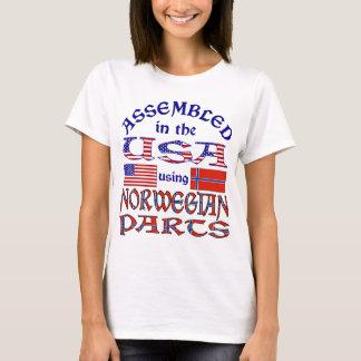 Partes 2 norueguesas camiseta