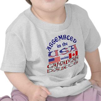 Partes canadenses 2 dos EUA T-shirt