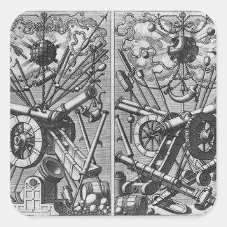 Partes de ordenança adesivos quadrados
