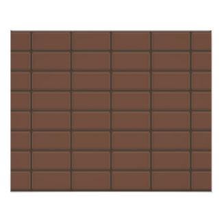 Partes do bar de chocolate impressão de foto