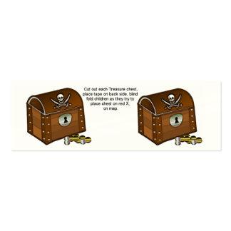Partes do jogo da caixa do pirata cartão de visita skinny