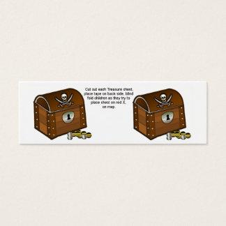 Partes do jogo da caixa do pirata cartão de visitas mini