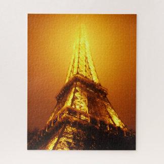 Partes do quebra-cabeça da torre Eiffel