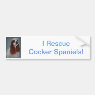 Parti cocker spaniel adesivo para carro