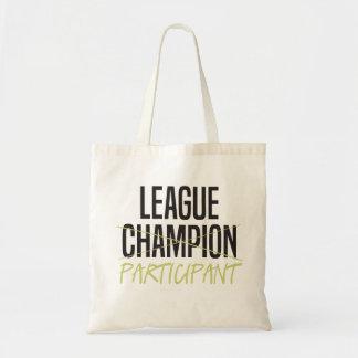Participante do campeonato de futebol da fantasia sacola tote budget