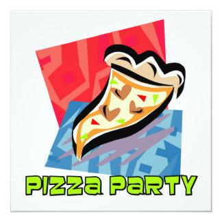 Partido 1 da pizza convite quadrado 13.35 x 13.35cm