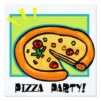 Partido 3 da pizza convite quadrado 13.35 x 13.35cm