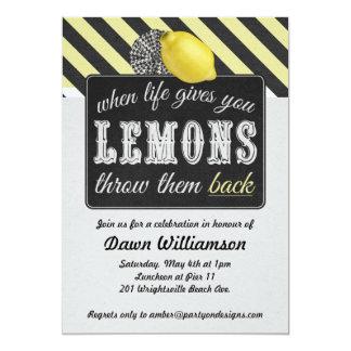 Partido adulto da limonada - noite dos partys girl convite 12.7 x 17.78cm