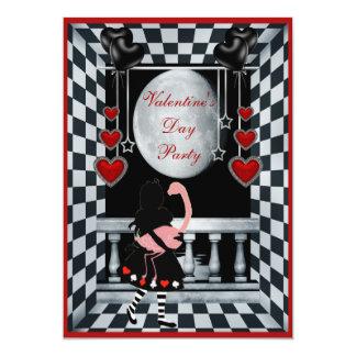 Partido Alice do dia dos namorados, flamingo & lua Convite 12.7 X 17.78cm