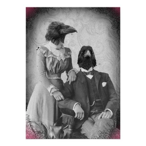 Partido assustador do Dia das Bruxas da família do Convites Personalizados