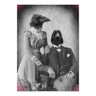 Partido assustador do Dia das Bruxas da família do Convite 12.7 X 17.78cm
