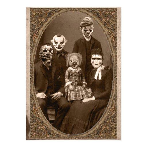 Partido assustador do Dia das Bruxas da família do Convite