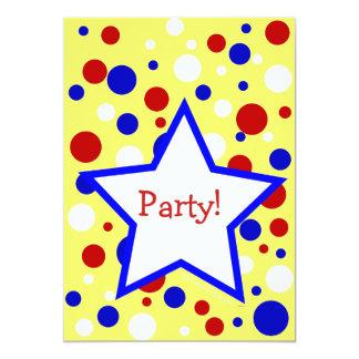 Partido azul branco vermelho InvitationsTemplate Convites