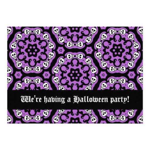 Partido bonito 5x7 do Dia das Bruxas da família do Convites Personalizado