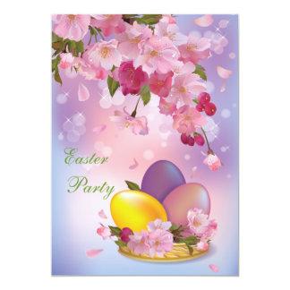 Partido bonito da flor & da páscoa dos ovos convites personalizado