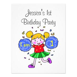 Partido bonito da menina do primeiro aniversario d convite personalizados