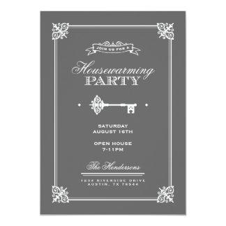 Partido chave elegante do Housewarming Convite 12.7 X 17.78cm