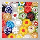 Partido colorido da flor. Grande impressão da arte