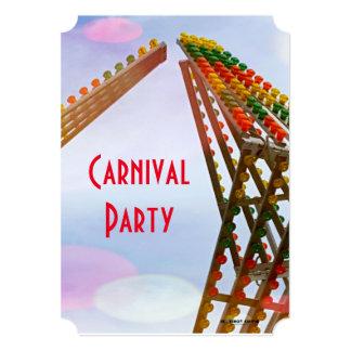 Partido colorido do tema do carnaval do passeio de convite 12.7 x 17.78cm