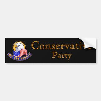 """Partido conservador """"nós as pessoas """" adesivo para carro"""
