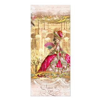 Partido cor-de-rosa de Marie Antoinette em Convites
