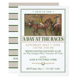 Partido da corrida de cavalos de Derby | Edgar Convite 12.7 X 17.78cm