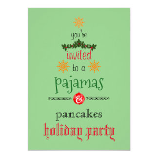 Partido da família dos pijamas & das panquecas do convite 12.7 x 17.78cm