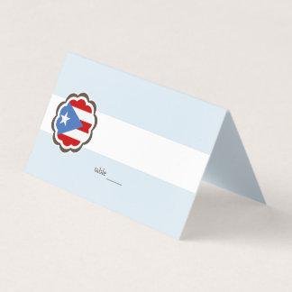 Partido da flor, bandeira porto-riquenha cartão de mesa