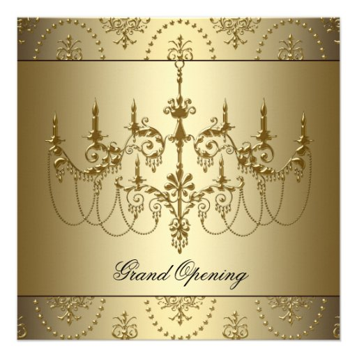 Partido da grande inauguração da empresa do ouro convites