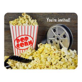 Partido da noite de cinema convite 10.79 x 13.97cm