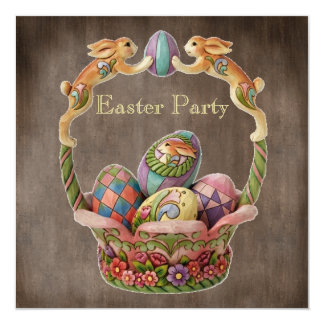 Partido da páscoa dos coelhinhos da Páscoa & dos Convites Personalizados
