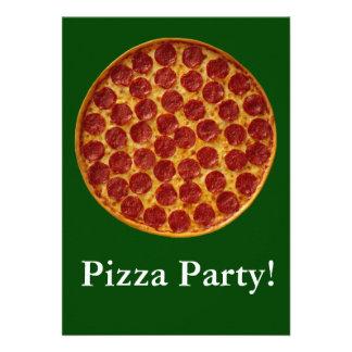 Partido da pizza convites personalizado