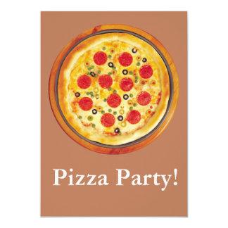 Partido da pizza convite personalizados