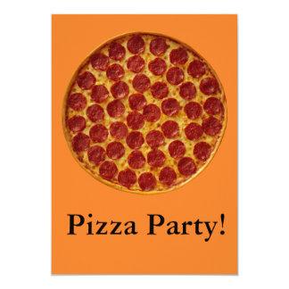 Partido da pizza convite personalizado