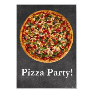 Partido da pizza convites personalizados