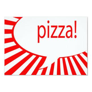 partido da pizza convite 8.89 x 12.7cm