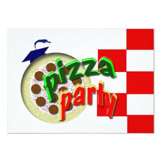 Partido da pizza da graduação!!!! convite 12.7 x 17.78cm