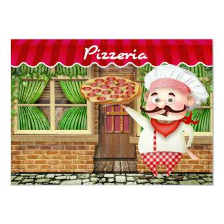 Partido da pizza - SRF Convite 11.30 X 15.87cm