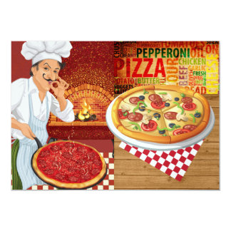 Partido da pizza - SRF Convite 12.7 X 17.78cm