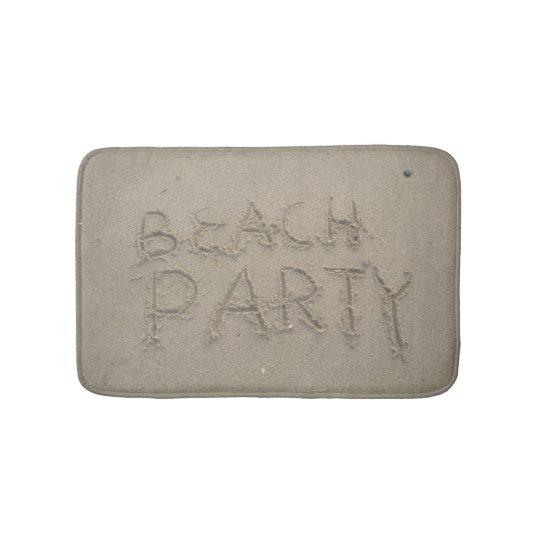 Partido da praia tapete de banheiro