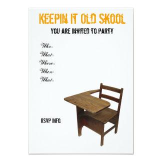 Partido da velha escola convite 12.7 x 17.78cm