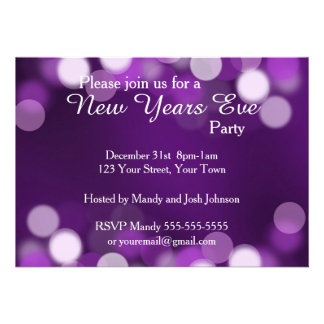 Partido da véspera de Ano Novo Convite Personalizados