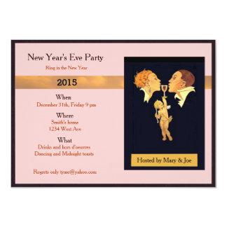 Partido da véspera de ano novo convite 11.30 x 15.87cm