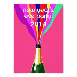 Partido da véspera de Ano Novo Convite 12.7 X 17.78cm