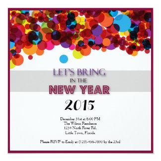 Partido da véspera de Ano Novo Convite Quadrado 13.35 X 13.35cm