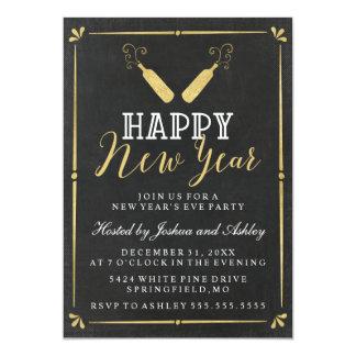 Partido da véspera de Ano Novo do quadro do Convite 12.7 X 17.78cm