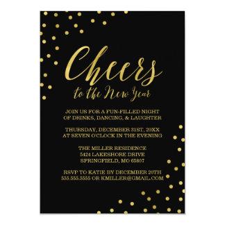 Partido da véspera de Ano Novo dos elogios dos Convite 12.7 X 17.78cm