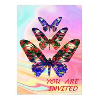 Partido das borboletas/convite tropicais do convite11.43 x 15.87cm