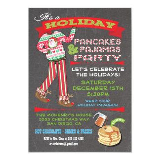 Partido das panquecas & de pijamas do Natal do Convite 12.7 X 17.78cm