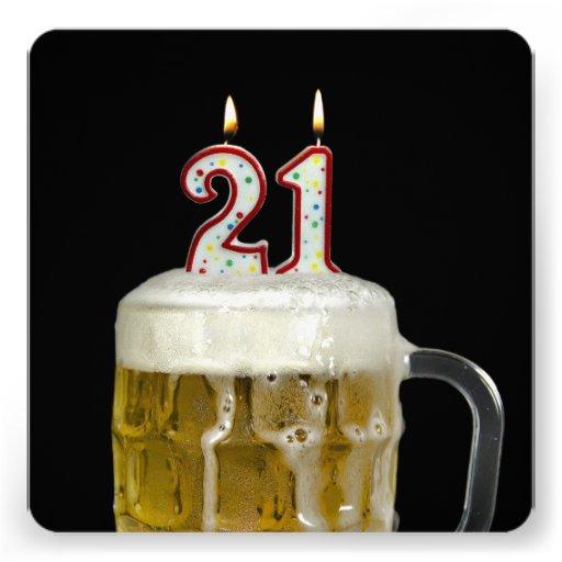 Partido de aniversário de 21 anos convites personalizados